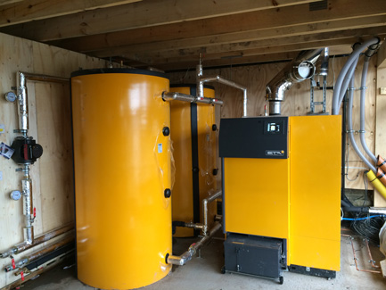 Biomass Heating System, Trevor, Llangollen | AW Renewables