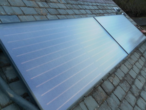 Solar Panels fitted to a slate roof